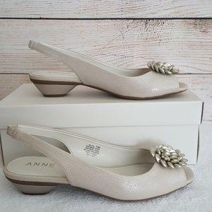 a681261095a2 Anne Klein Shoes - New Anne Klein Liza Peep Toe Slingback